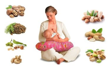 Орехи для кормящей мамы